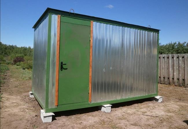 готовый бло контейнер под хозблок