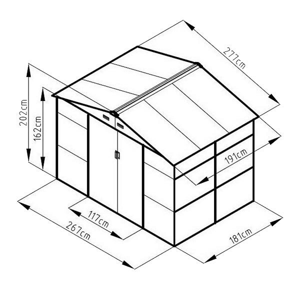 проект хозблока с размерами