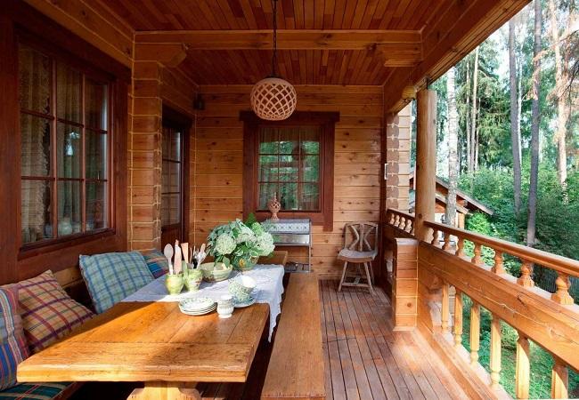 веранда в деревенском стиле