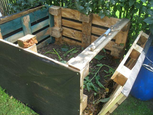 компостный ящик из поддонов