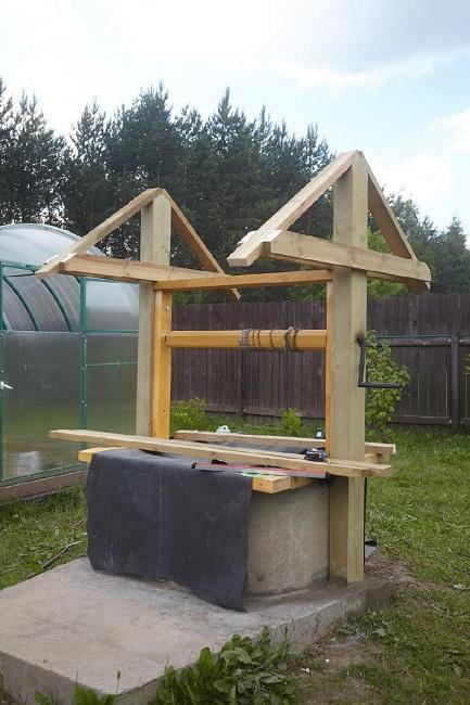 домик для колодца из бруса