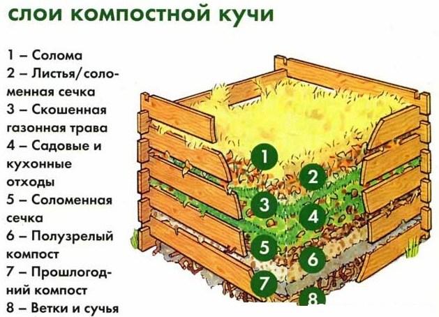 как укладывать слои компоста