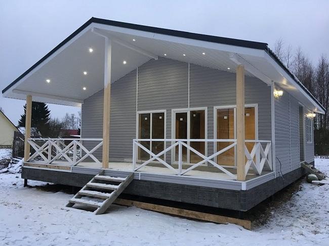проект одноэтажного дома 9 на 12