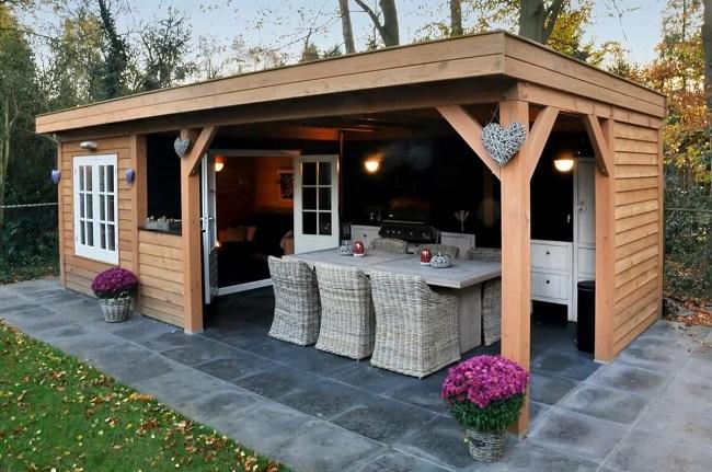 мебель из ротанга для летней кухни