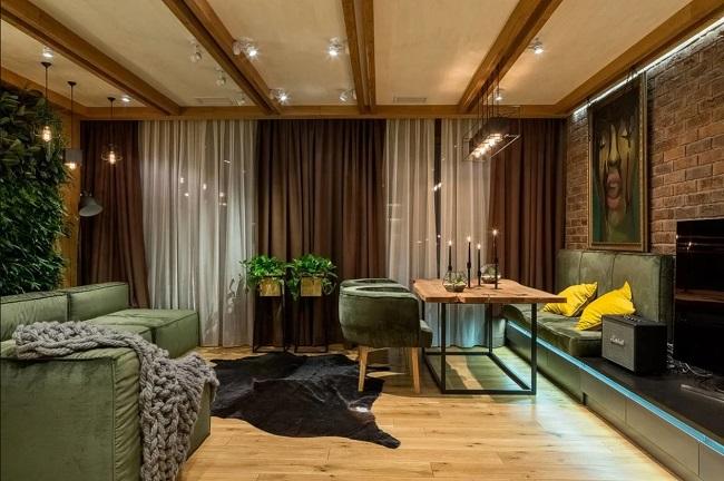 интерьер шале в квартире