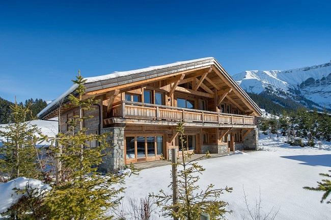 дом в стиле шале в альпах