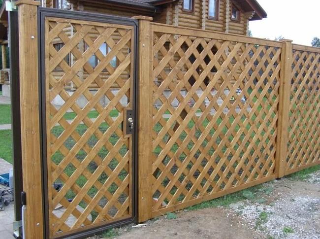 деревянные решетчатые заборы