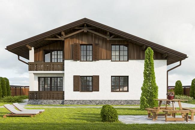 проект двухэтажного дома шале