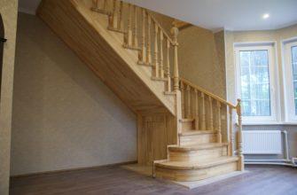 лестница из дерева на второй этаж для частного дома