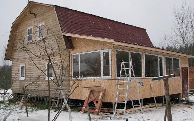 пристройка к дому на даче
