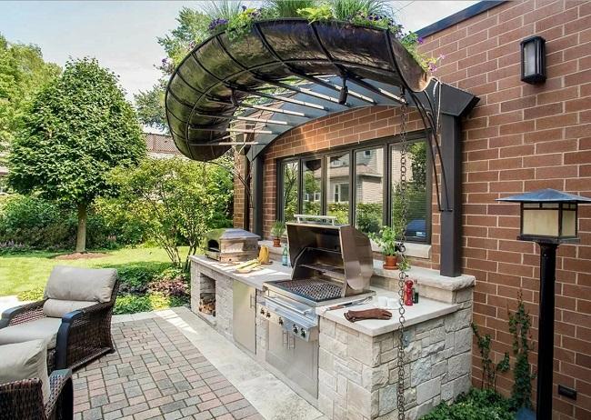 встраиваемая барбекю для летней кухни