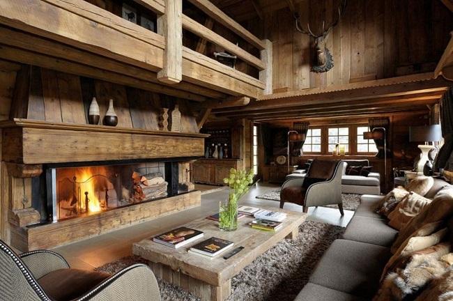 интерьер дома в альпийском стиле