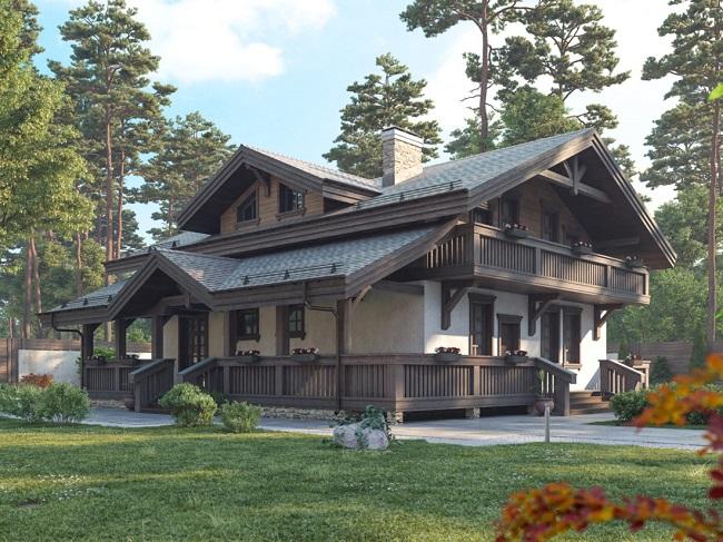 проект дома шале в россии
