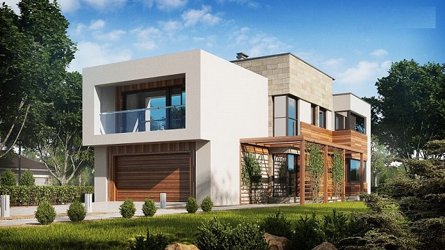 Проект 2-х этажного дома на 210 м2 хайтек