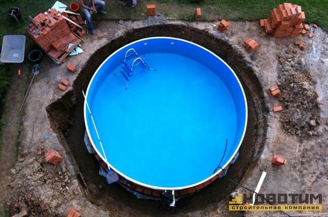 сборный бассейн вкопанный