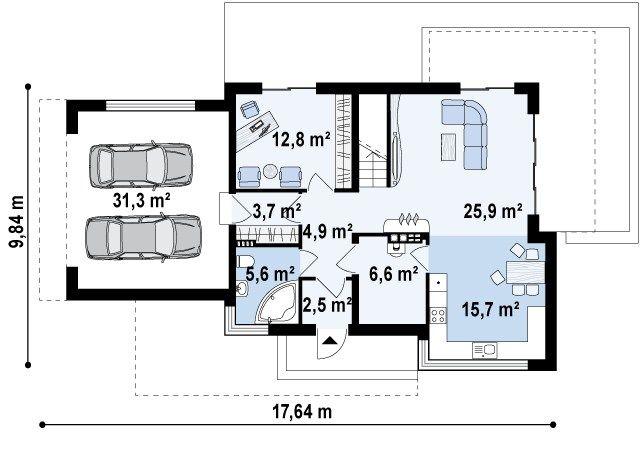 планировка дома хай тек на 200 квадратов