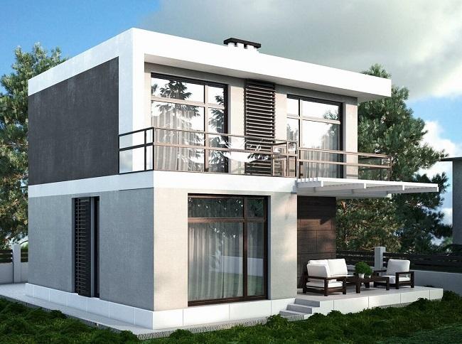 проект хай тек двухэтажный 200 м2