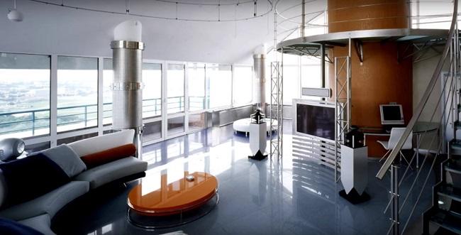 интерьер офиса в стиле хай тек