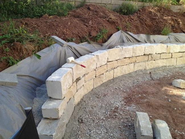 подпорная стенка гидроизоляцию стенки со стороны склона