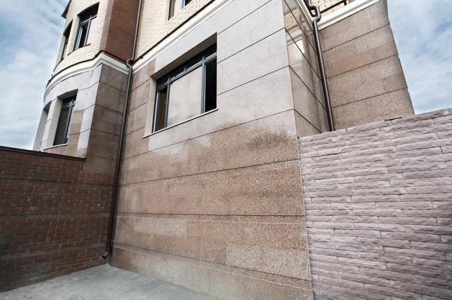облицовка фасада мрамором