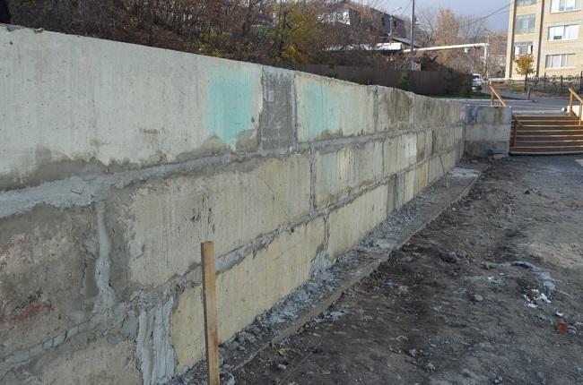 подпорная стенка из фбс