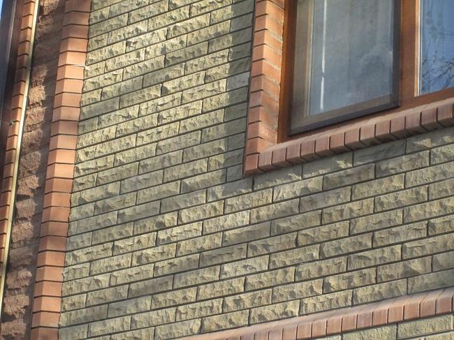 фасад дома вибропресованный кирпич