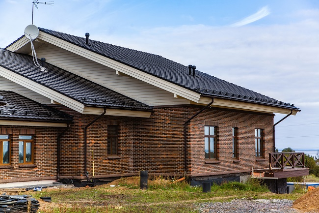 фасад дома из клинкерного кирпича