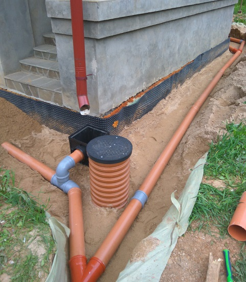 ливневая канализия на участке