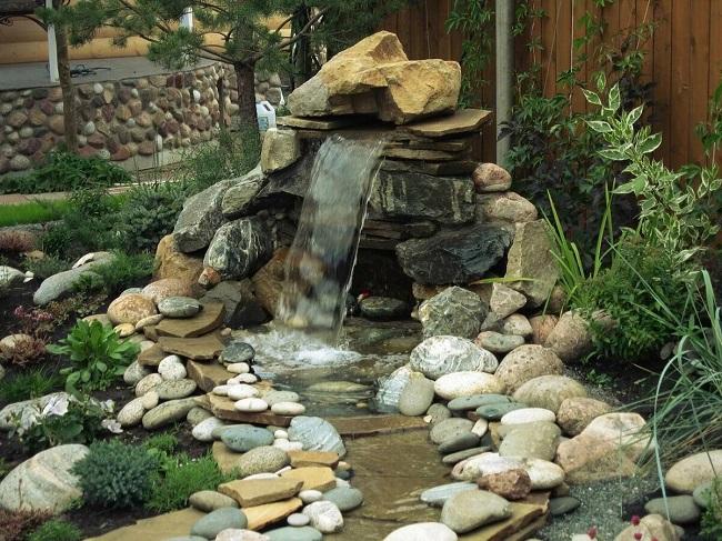 природный стиль водопада