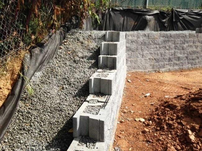 подпорная стенка из блоков