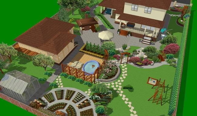 эскиз участка 6 соток с баней домом огородом