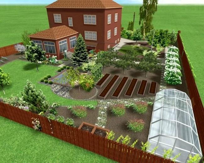 озеленение и обустройство участка 10 соток