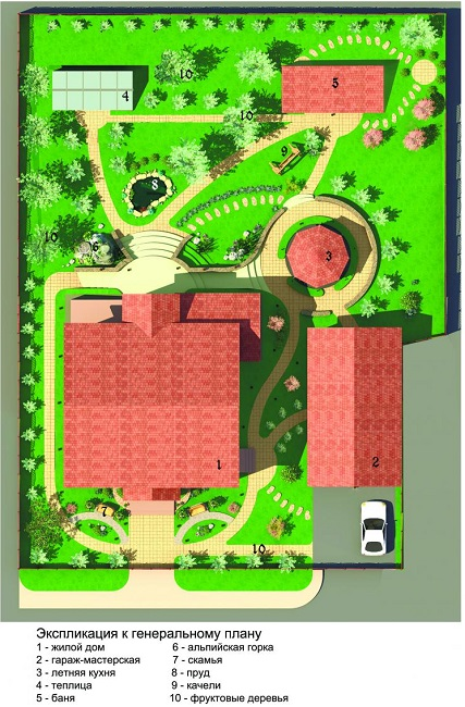 план участка прямоугольной формы 10 соток