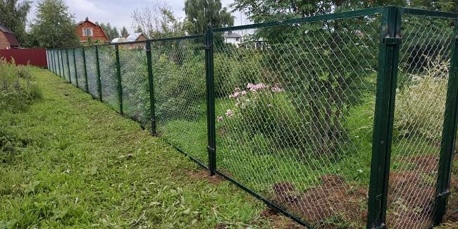 сетчатый забор между соседями