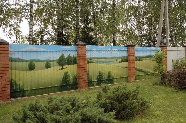красивые рисунки на забор из профнастила