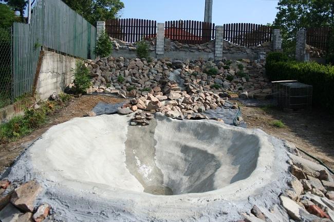 бетонирование чаши фонтана