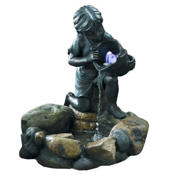 декоративный фонтан девочка с рыбкой