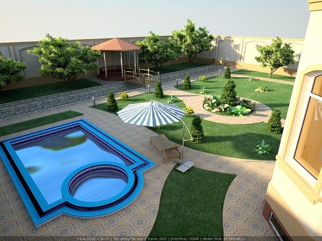 ландшафтное проектирование в 3D Max