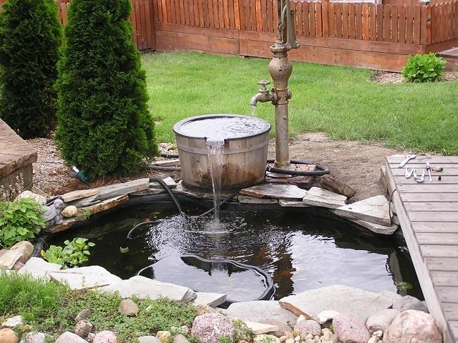 фонтан без насоса от водопровода