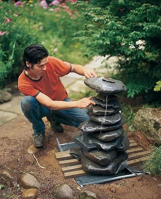 фонтан из камня своими руками