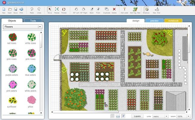 Планировка участка Garden Planner
