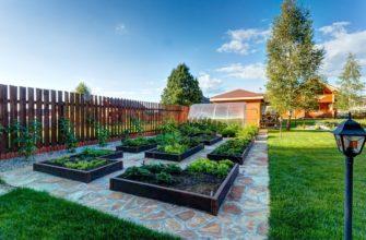 дизайн участка с огородом
