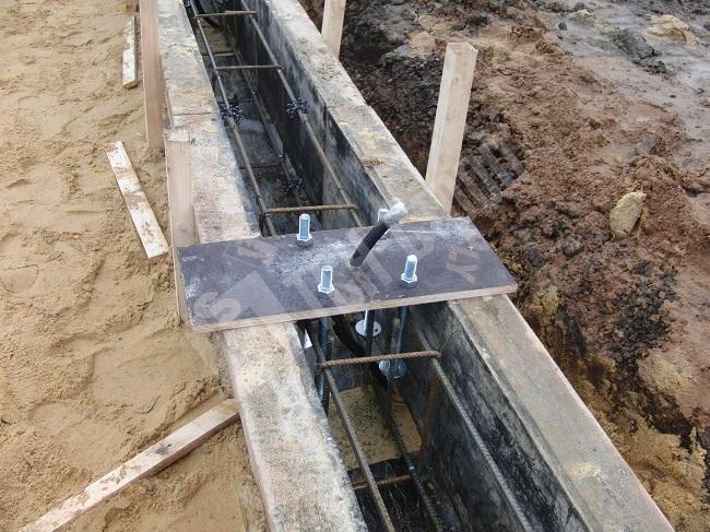 мелгозагубленный фундамент с закладными под столбы