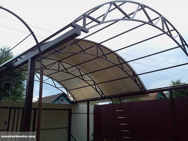 как сделать крышу навеса