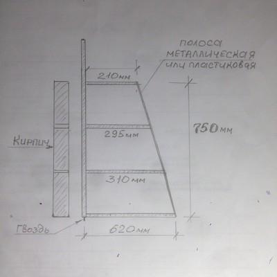 схема лекала для тандыра
