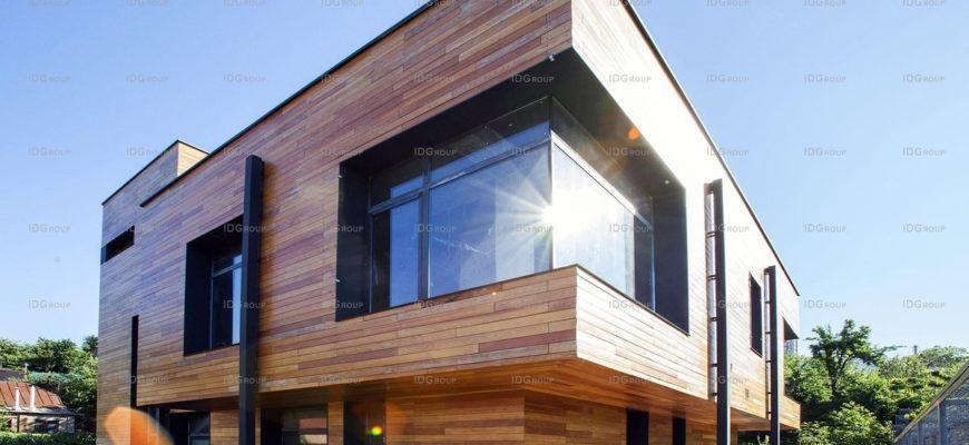 лофт дом из дерева и бетона