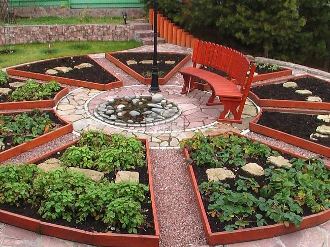 декоративный огород с зоной отдыха