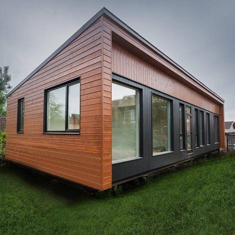 модульный дом с плоской крышей