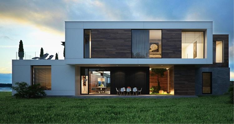 отделка фасада хай тек домов