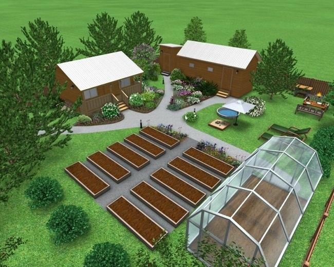 садово огородная зона на участке